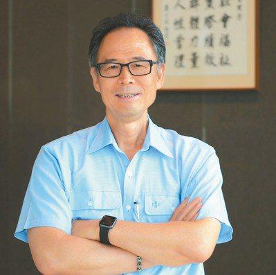 中鋼構董事長陳天民。 記者林政鋒/攝影