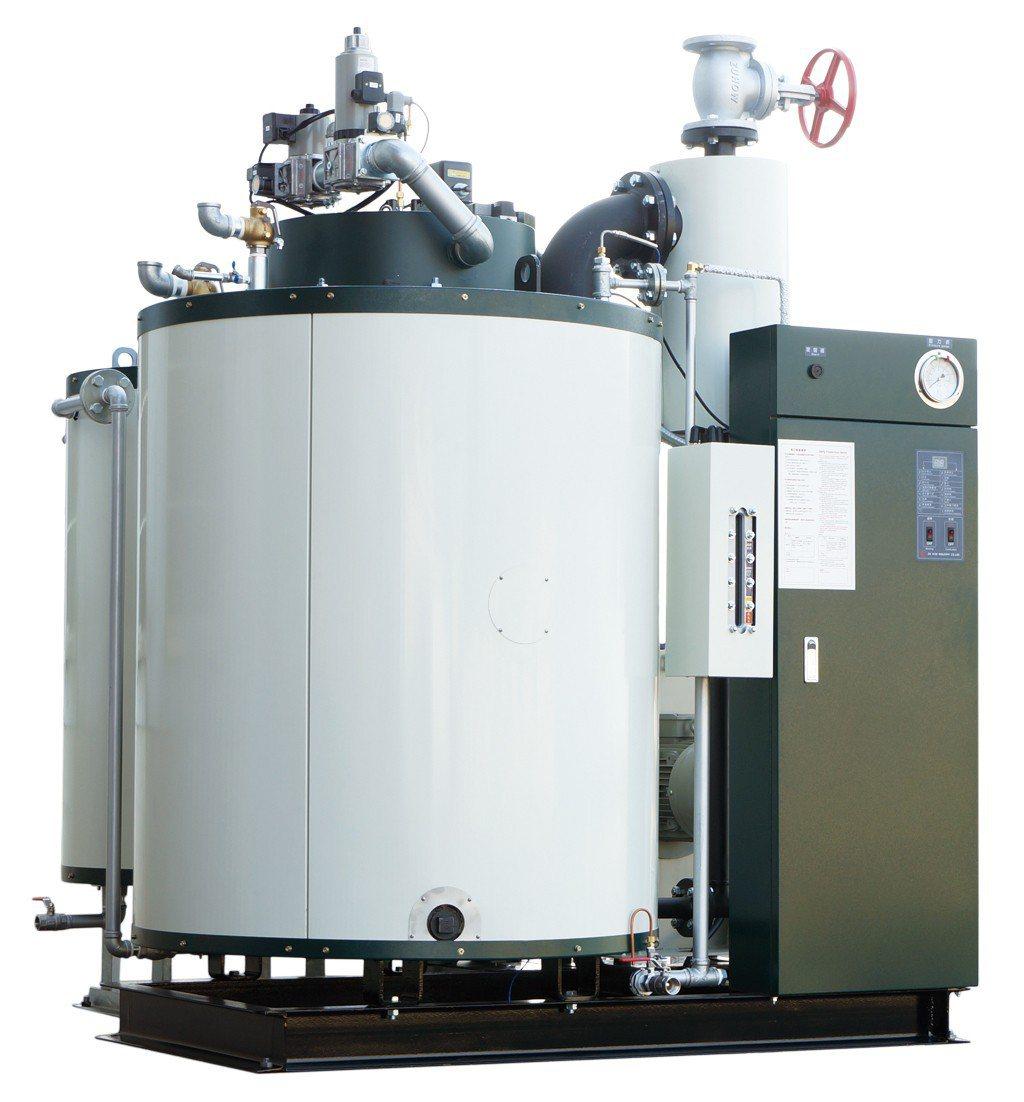志豪工業全系列貫流式鍋爐、效能保證達96%。 志豪工業/提供