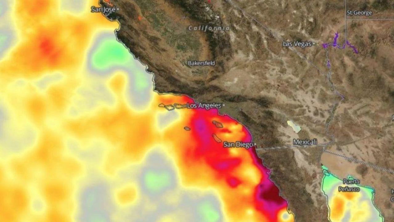 加州今年夏季愈來愈熱,強烈高溫更導致野火不斷。 世界日報記者陳盈霖/翻攝