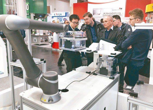 廣明衝刺機器人業務,預估今年機械手臂出貨量上看2,000支。 廣明/提供