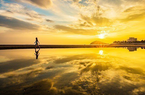 日本 香川父母濱海岸。 圖/日本三豐市觀光交流局網站