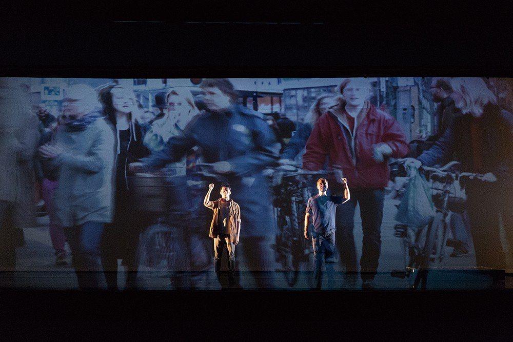2015年階段性發表劇照。以台北及哥本哈根街景影像,結合演員穿梭其中。