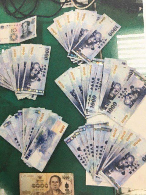 泰女當晚損失了新臺幣4萬6,005元、泰銖1,001元、人民幣10元、泰國護照1...