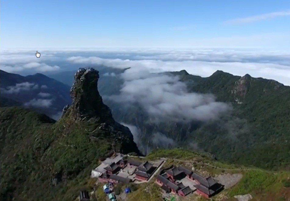 貴州省梵淨山今年入列聯合國的世界自然遺產。擷自路透/CCTV影音