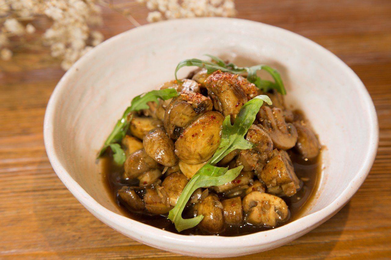 巴沙米克油醋醃蘑菇。圖/商周出版提供