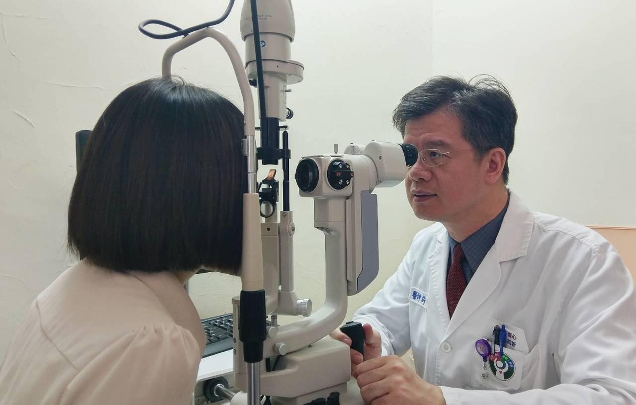 據統計,糖尿病患者在罹病5至10年後,眼睛黃斑部容易水腫,引發視網膜病變,醫師提...