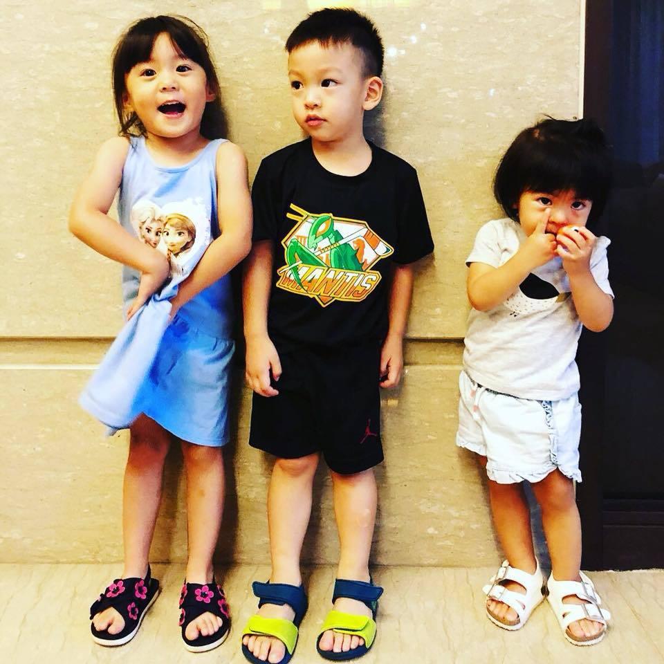 徐若瑄稱Bo妞是Dalton與咘咘間的「小電燈泡」。圖/摘自臉書