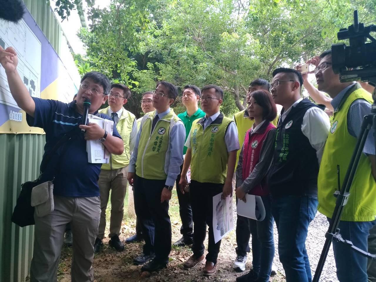 民進黨提名台南市長參選人黃偉哲爭取「司法文化園區」圖/團隊提供