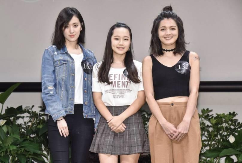 葛子揚(左起)、林莉和林靜參加「聲林之王」海選活動。圖/東森提供