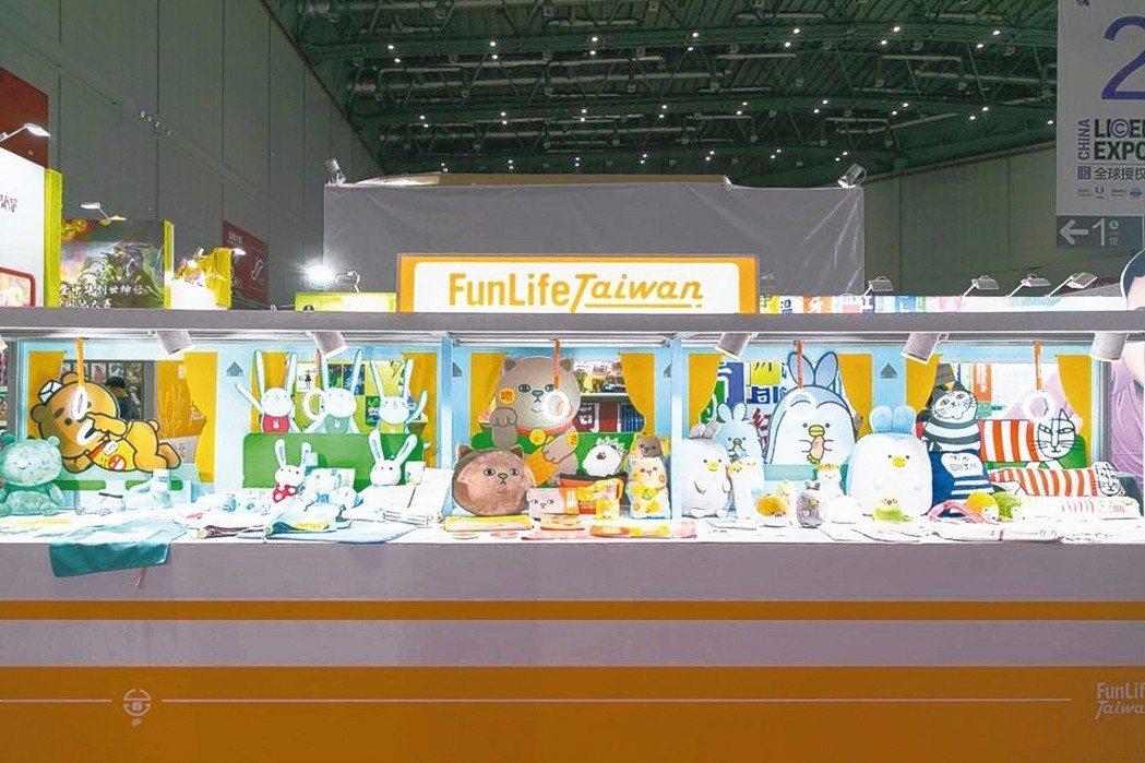 以創意列車的陳列展示台灣原創IP的豐富內容。 聯合數位文創/提供