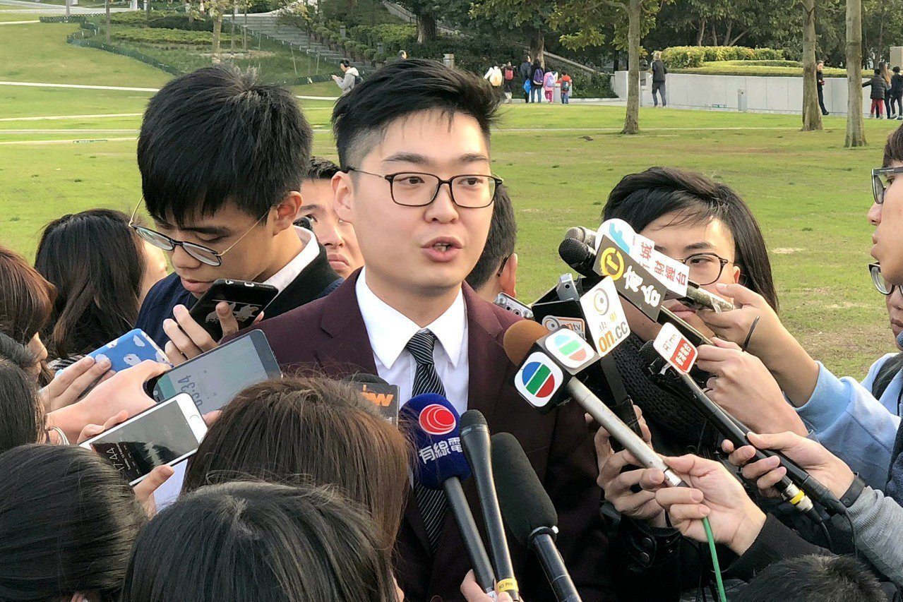 香港民族黨召集人陳浩天 路透