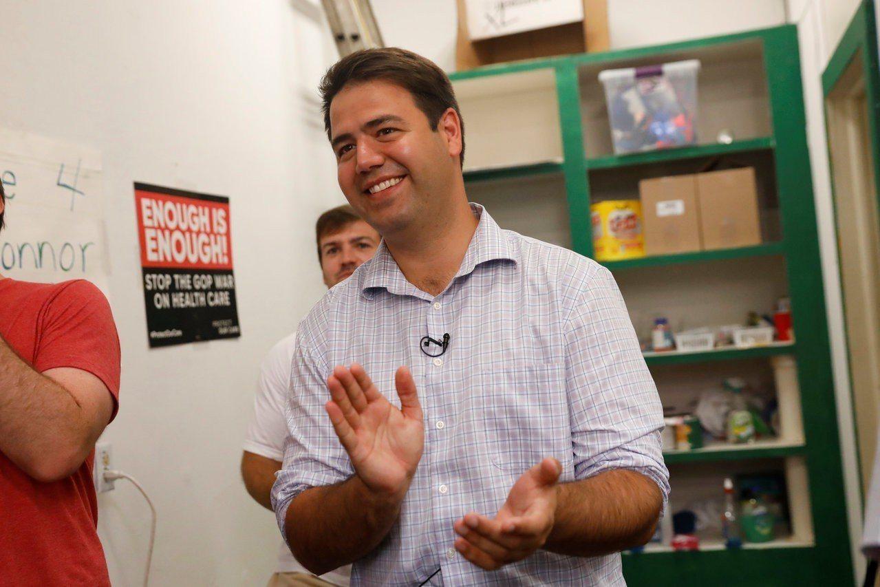 民主黨候選人歐康諾(Danny O`Connor)。 世界日報記者宋凌蘭/攝影