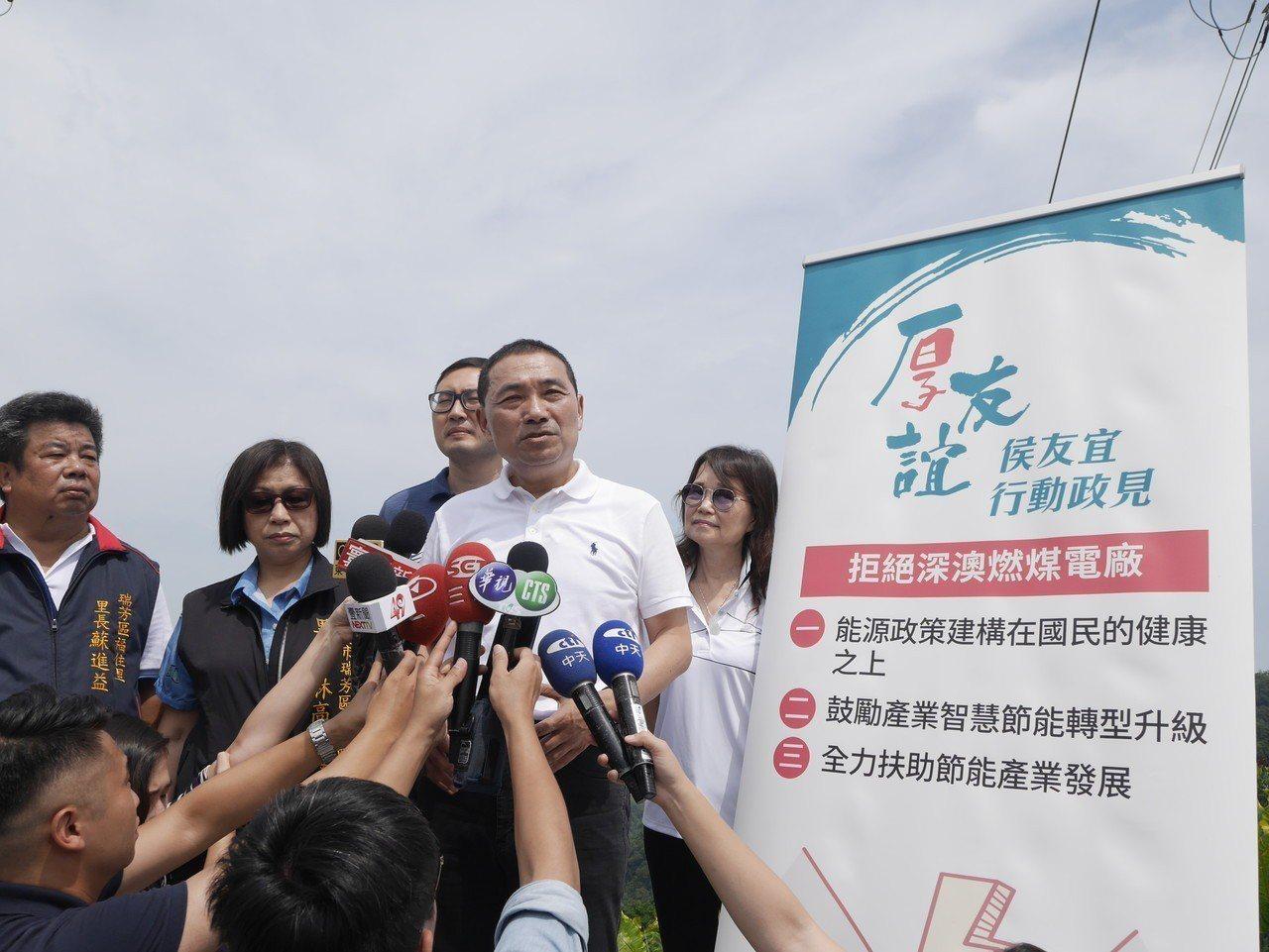 新北市長參選人侯友宜。聯合報系資料照/記者吳淑君攝影