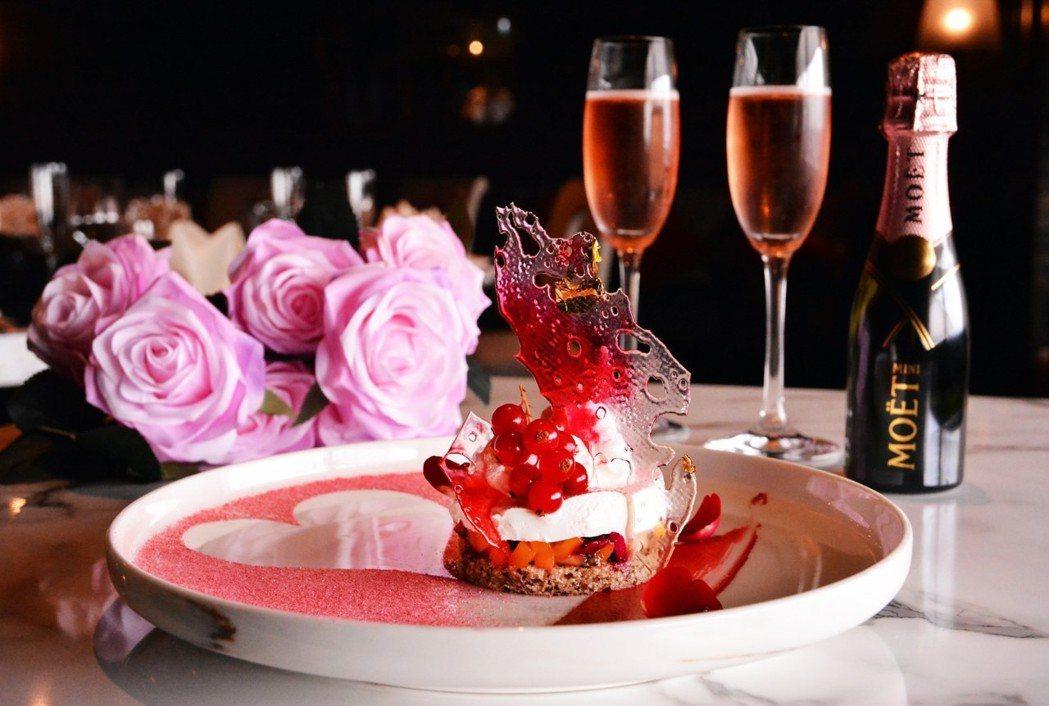 頤宮中餐廳七夕獨家限定甜點「繽紛戀人」。 雲朗觀光/提供