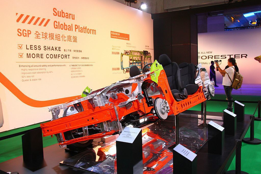 「Subaru Global Platform全球模組化底盤」,大幅提升車體剛性...