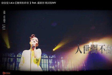 徐佳瑩5日上午宣告與MV導演比爾賈的結婚喜訊,沒想到過沒多久卻傳出香港歌手盧凱彤身亡的噩耗,曾與盧凱彤合作過的她,在今日寫下對友人的悼念。徐佳瑩分享了兩人合作的「糖果粉碎者」MV,同時寫道:「喜歡妳...