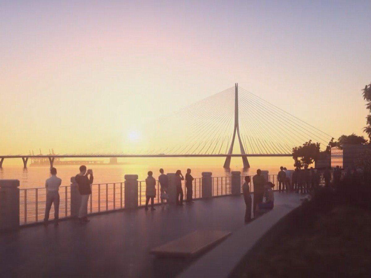 淡江大橋第三標主橋段工程,因公路總局與新北市府對增加經費喬不攏,新北市議員都表示...