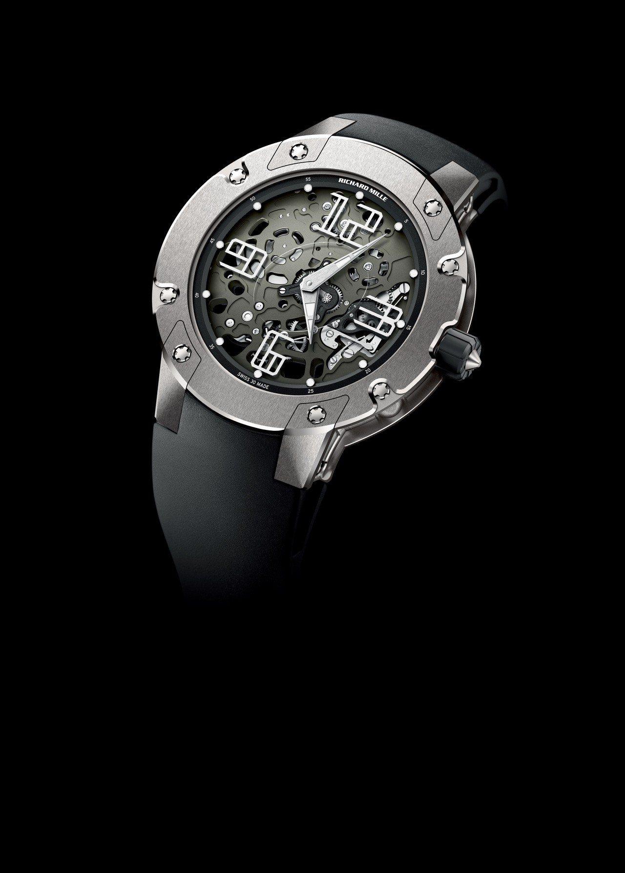 RICHARD MILLE RM033超薄腕表,钛合金表壳,搭载镂空RMXP1自...