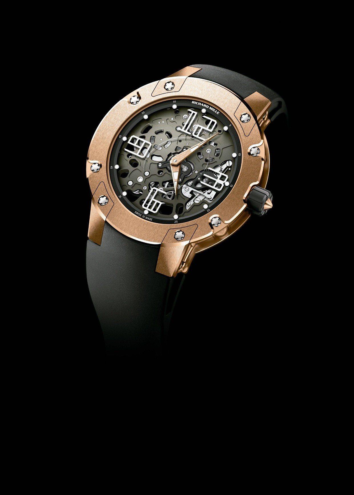 RICHARD MILLE RM033超薄腕表,18K玫瑰金表壳,搭载镂空RMX...