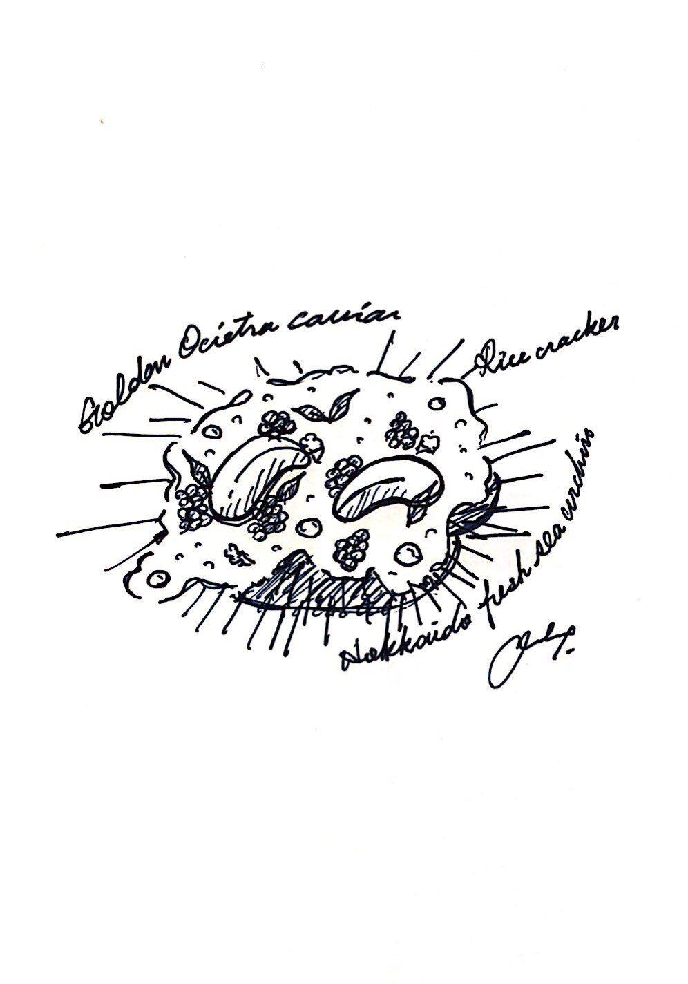 Chef André將美學的藝術延伸到味蕾,以海底枯山水庭為設計概念,恰如其分地...