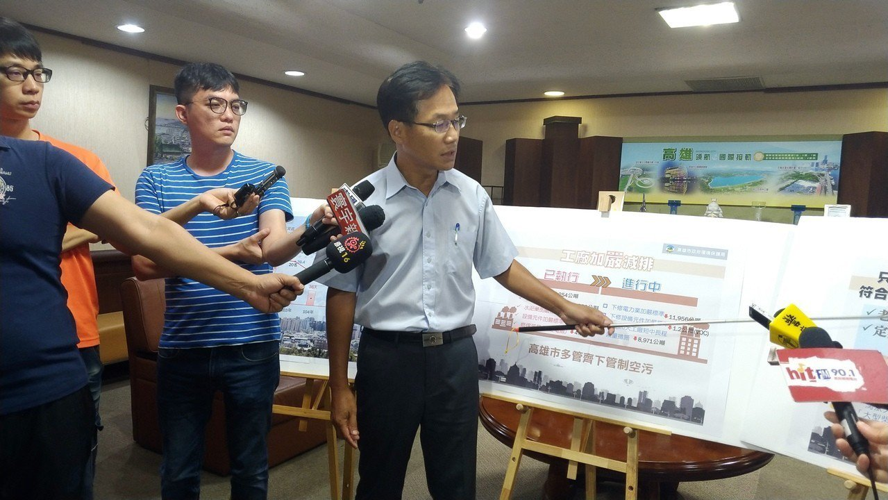 高市環保局長蔡孟裕表示,根據高市去年柴油車檢測結果,1~3期大型柴油車8成以上可...
