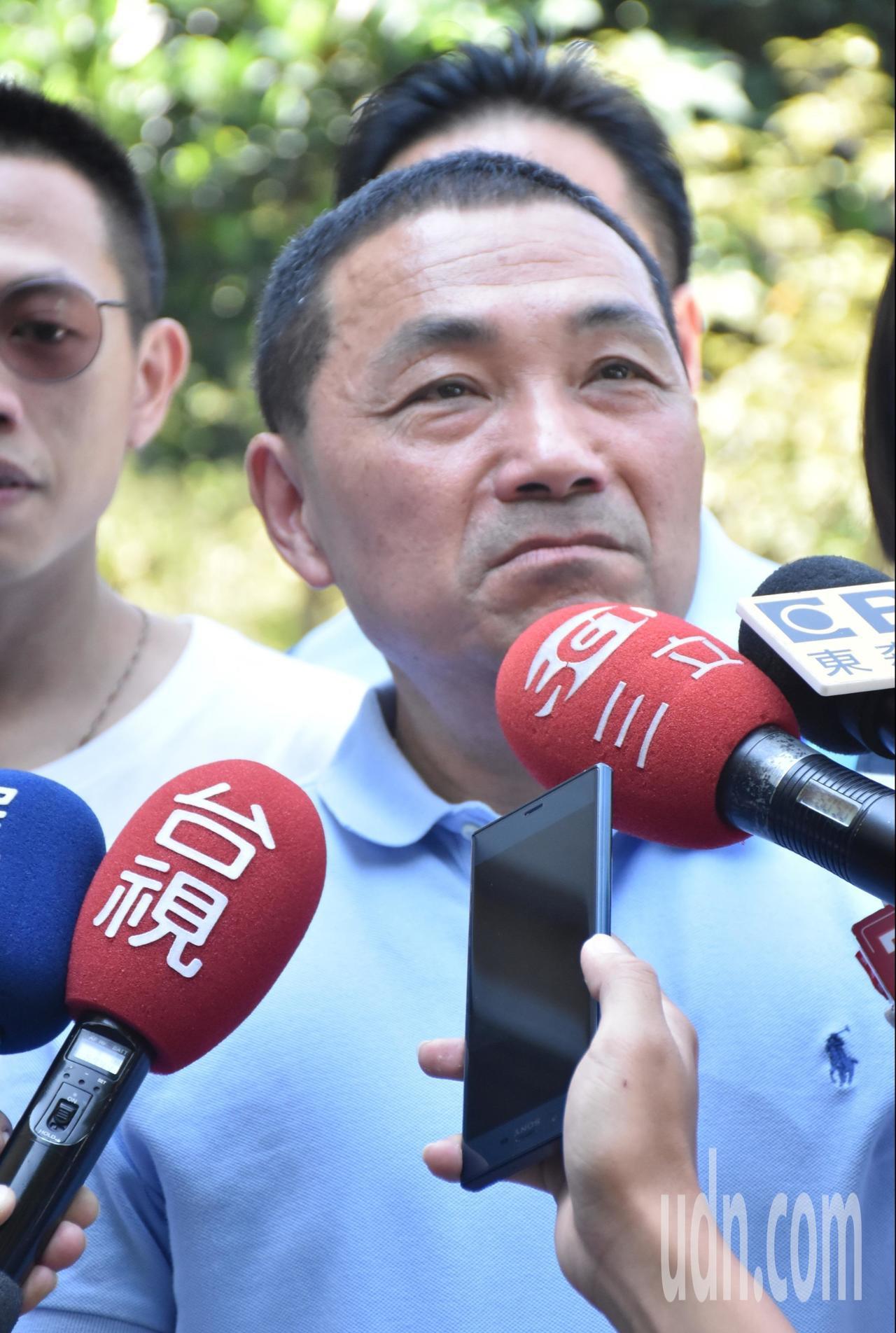 侯友宜表示對造成困擾深表歉意。記者江婉儀/攝影