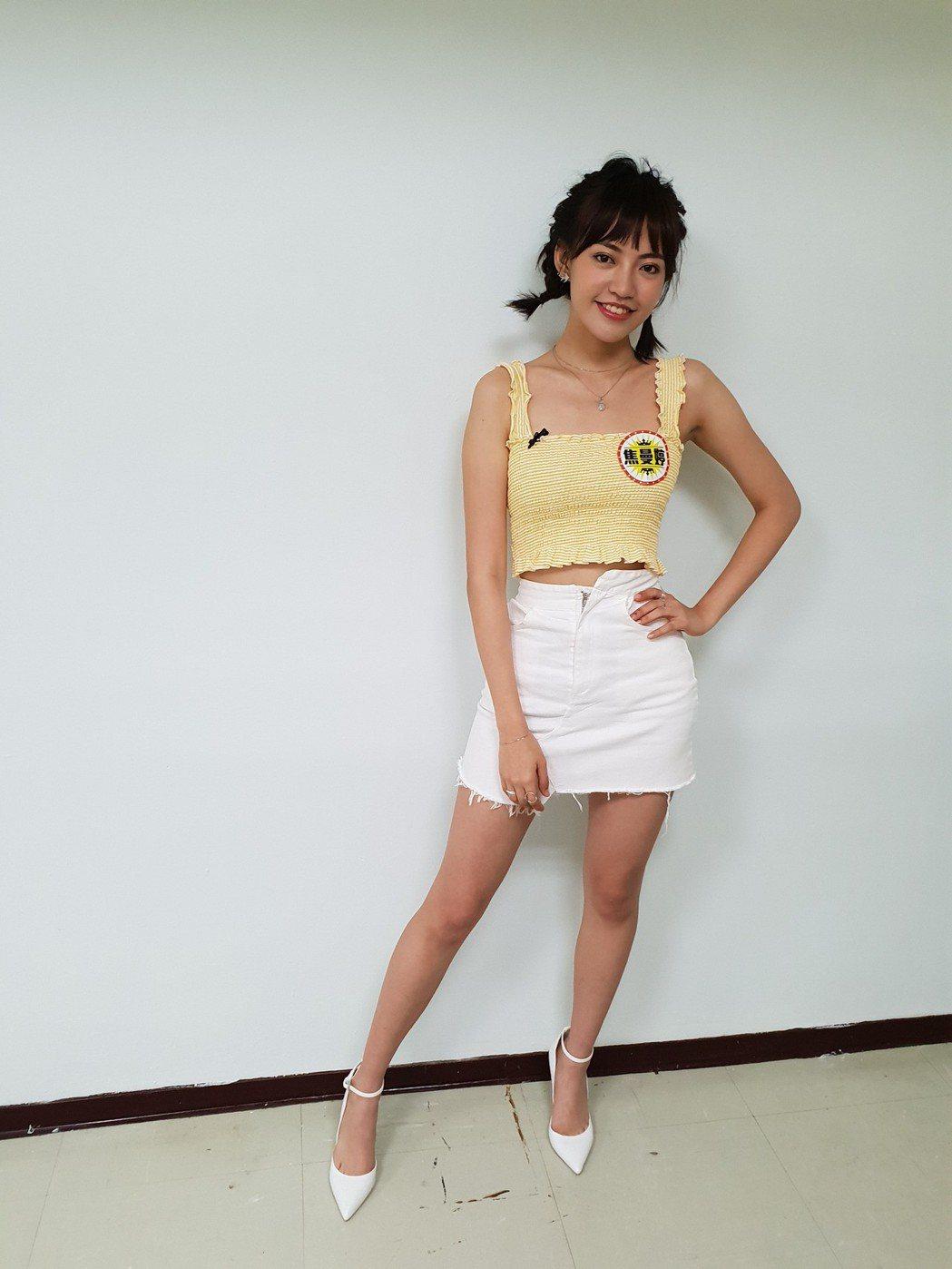 焦曼婷有172公分的高挑身材。記者李姿瑩/攝影