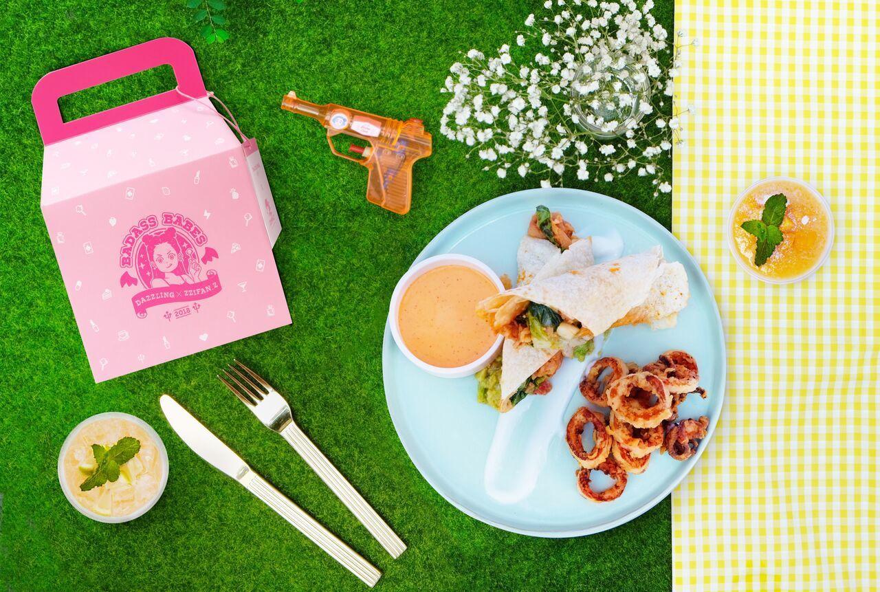 粉壞甜心套餐僅於台北東區門市販售,售價990元,限量500份。圖/Dazzlin...