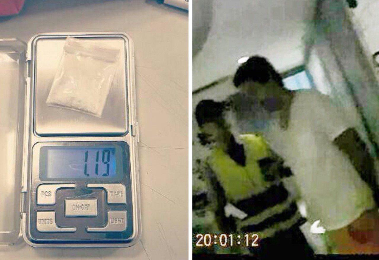 左嫌住在日租套房,遭警方查獲毒品。記者蕭雅娟/翻攝