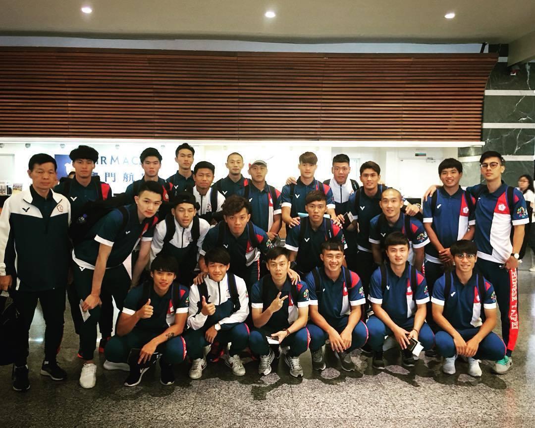 中華男足率先出發印尼雅加達亞運。中華足協提供
