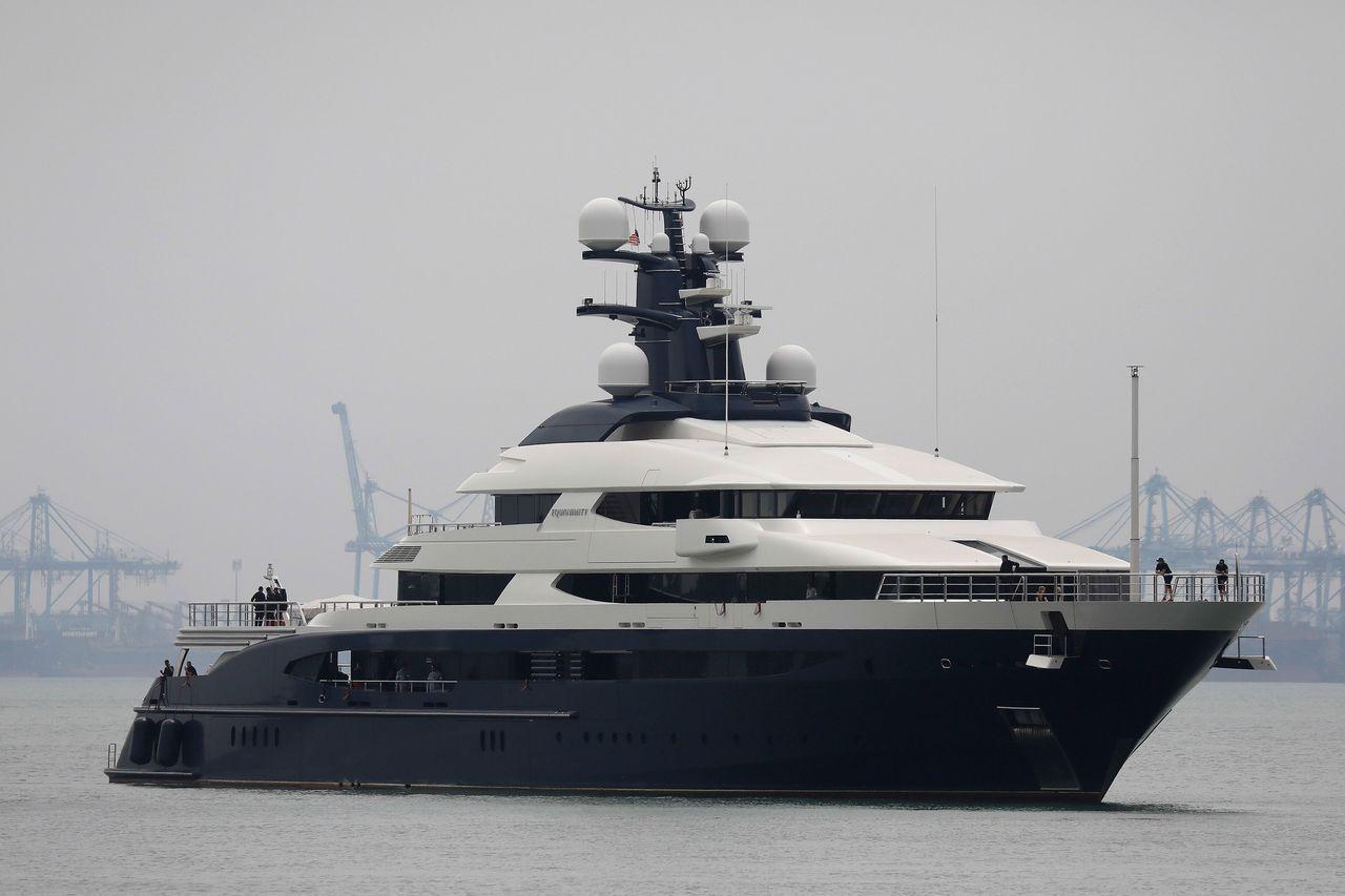 豪華遊艇「平靜號」捲入1MDB弊案。法新社
