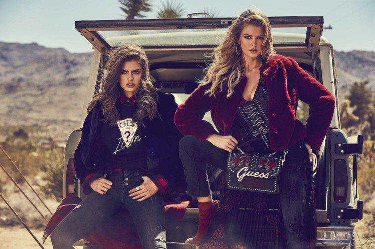 美式休閒品牌GUESS邀請眾多模特兒,攜手演出秋冬形象廣告,鏡頭中瀰漫著懷舊情調...