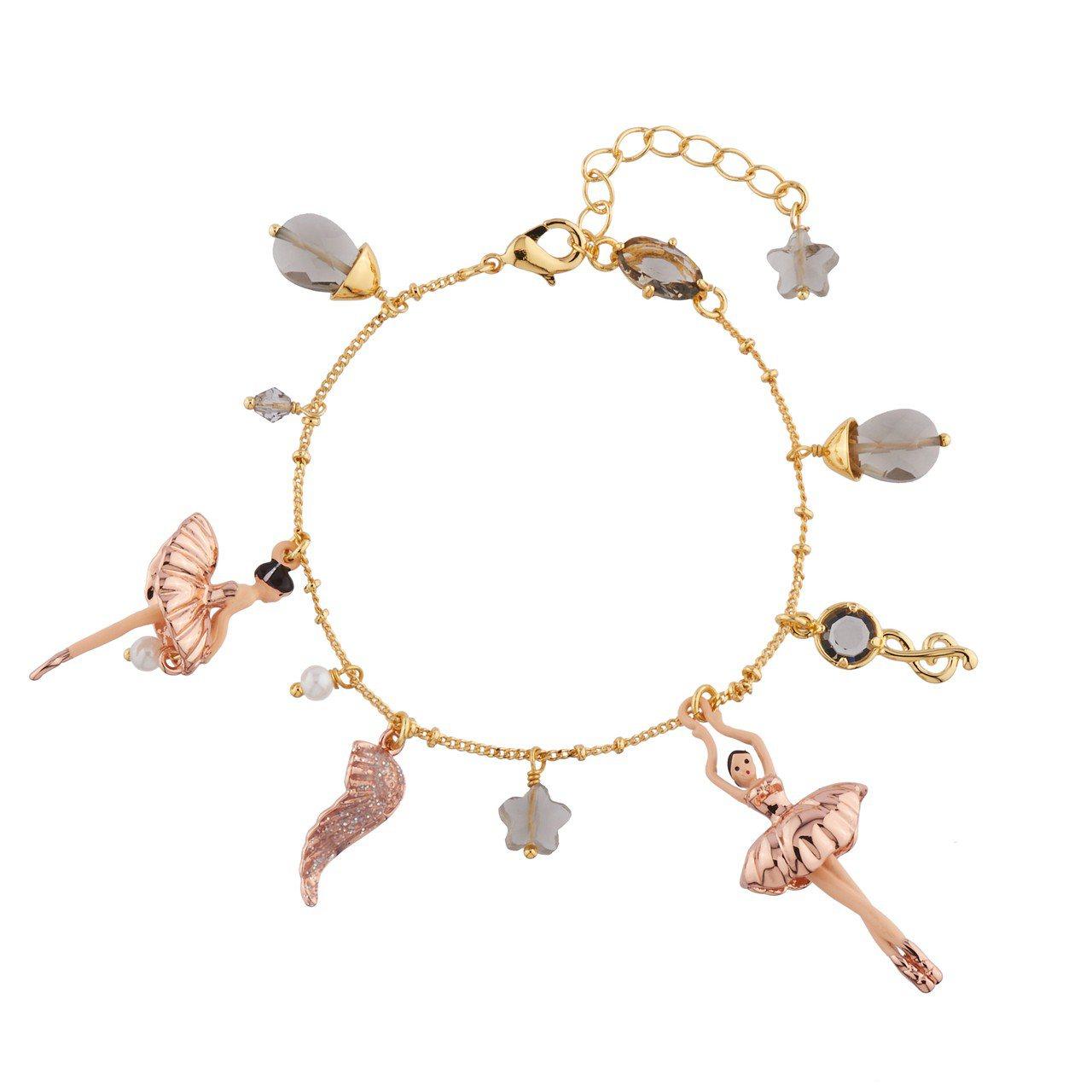 Les Néréides芭蕾舞伶玫瑰金手鍊,5,200元。圖/惇聚國際提供