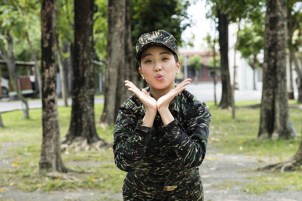 梁舒涵在「女兵日記」中飾演「葉素娥」。圖/TVBS提供