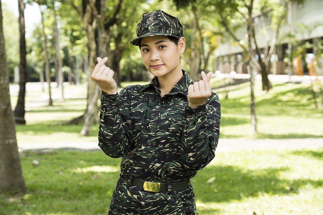 林宜禾在「女兵日記」中飾演「溫馨」。圖/TVBS提供