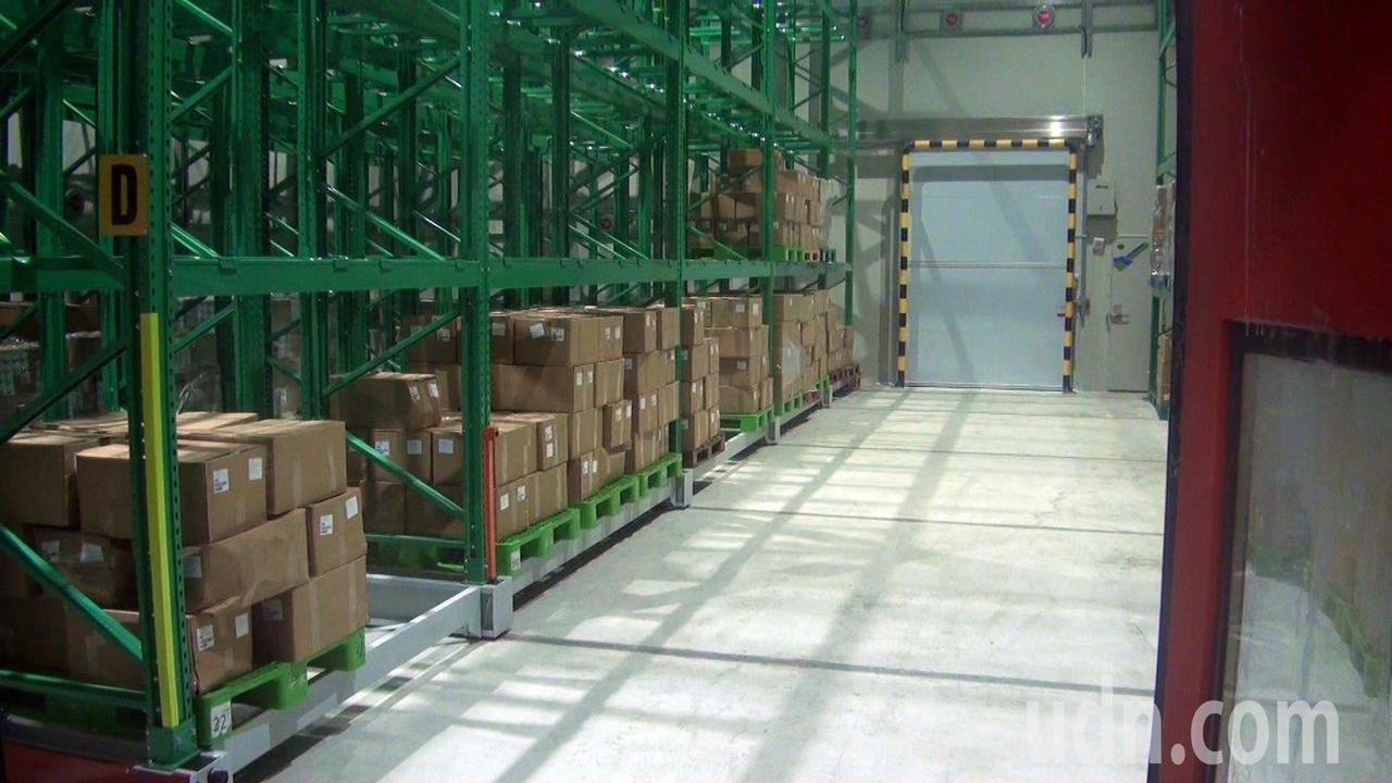 安永生技CAS保管倉庫,溫度控制在零下25度到零下50度,解凍後與現撈的一樣新鮮...