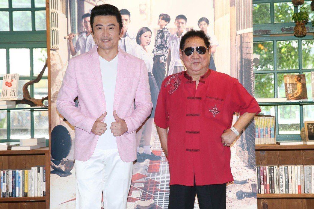 李㼈(左)、馬如龍(右)出席「鬥魚」電影版媒體茶敘,暢談怎麼過父親節以及過往的青...
