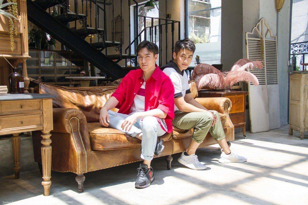沈建宏(左)與師弟張又瑋一起見媒體  圖/達騰娛樂提供