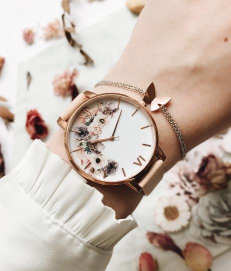 Olivia Burton 復古花卉腕表一直是深受歡迎的人氣商品。圖/Olivi...