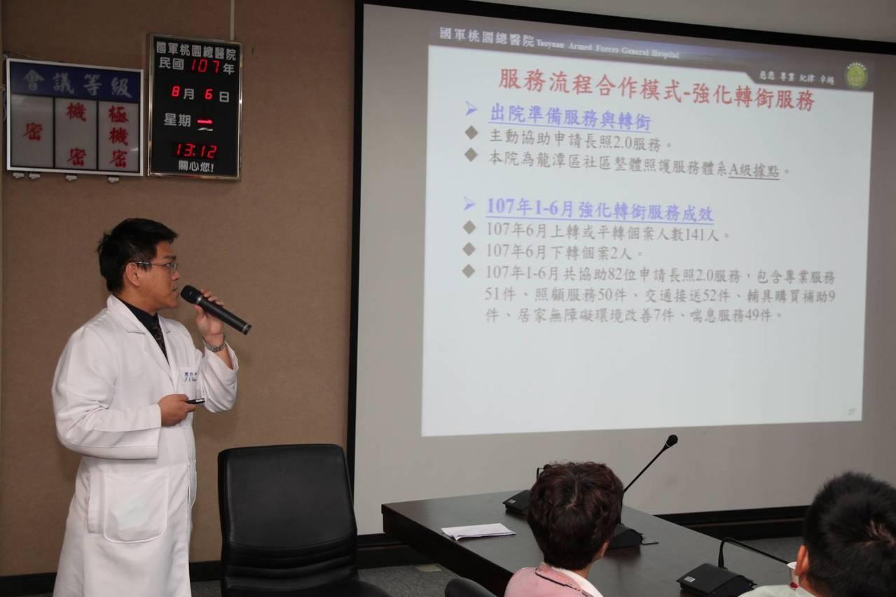 國軍桃園總醫說明雁行專案分工合作的特色。圖/國軍桃園總醫院提供