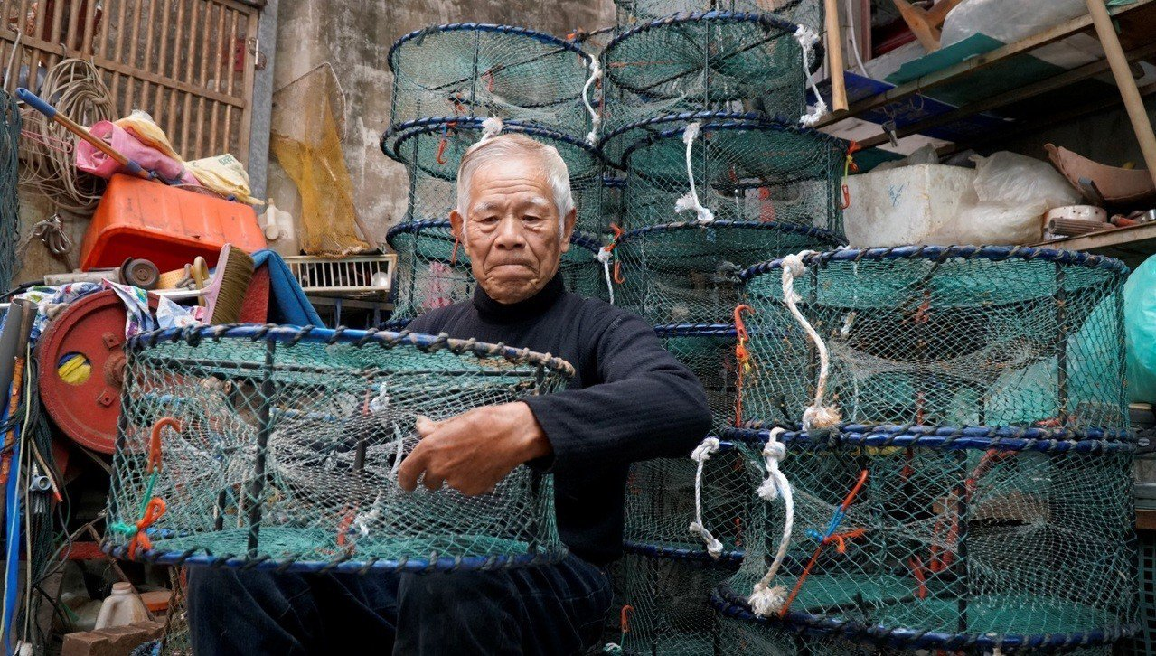 許八郎說,「一個好的蟹籠,關乎每次出海的成敗」。圖/新北市農業局提供