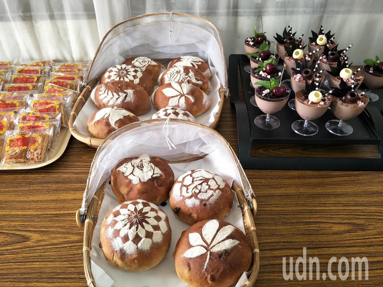 王鳳玲烘焙的歐式麵包。記者謝進盛╱攝影