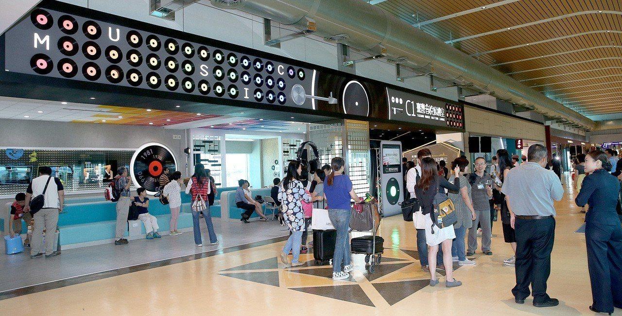 桃園機場二航廈的免稅店。報系資料照