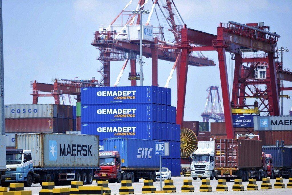 在中美貿易戰升溫之際,7月份中國出口增速超出預期。 (圖/美聯社)