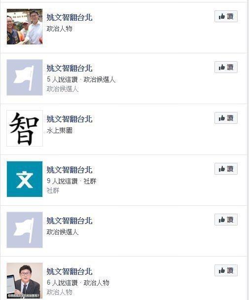 臉書專頁「姚文智翻台北」關閉後,許多網友KUSO惡搞,假臉專如雨後春筍般冒出。 ...