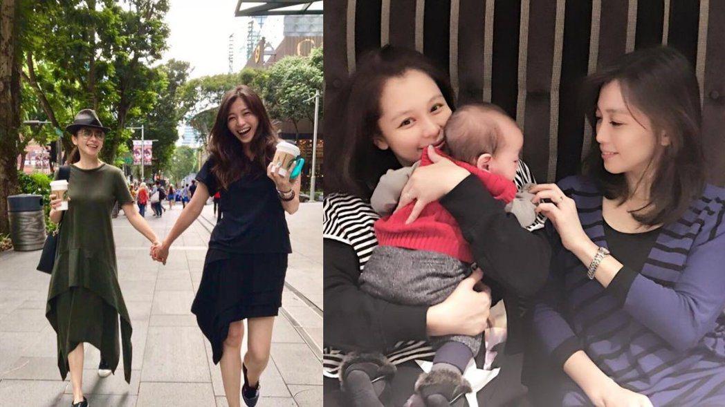 徐若瑄與「仙氣大姐」。圖/擷自臉書