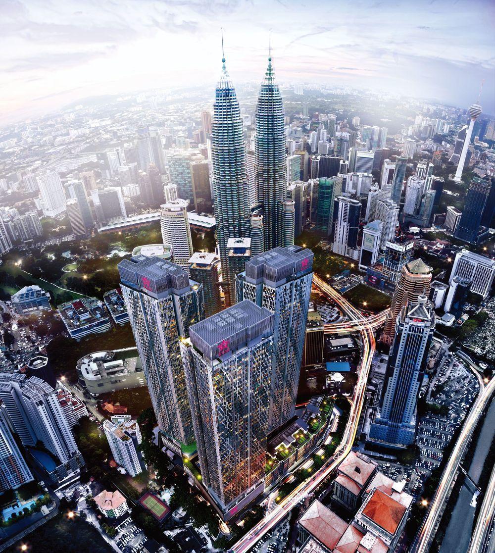 雅詩閣之星位於吉隆坡雙子星地標旁。 圖╱哈塔瑪斯提供