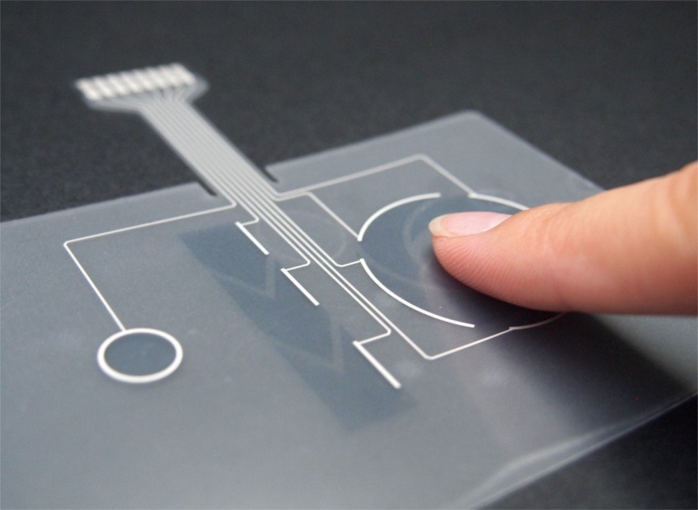 薄膜觸控按鍵為電容式觸控按鍵模組,薄膜觸控可做按鍵型,及滑動式設計。 業者提供