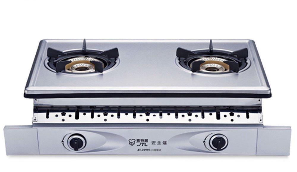 圖說:喜特麗全銅爐頭雙內焰雙口檯爐。圖由廠商提供。