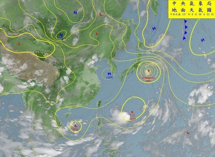 彭啟明表示,台灣東南東邊,中心距離台灣約1200公里,有1個熱帶性低氣壓正在發展...